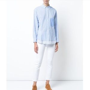 Derek Lam 10 Crosby Mixed Stripe Button Down Shirt